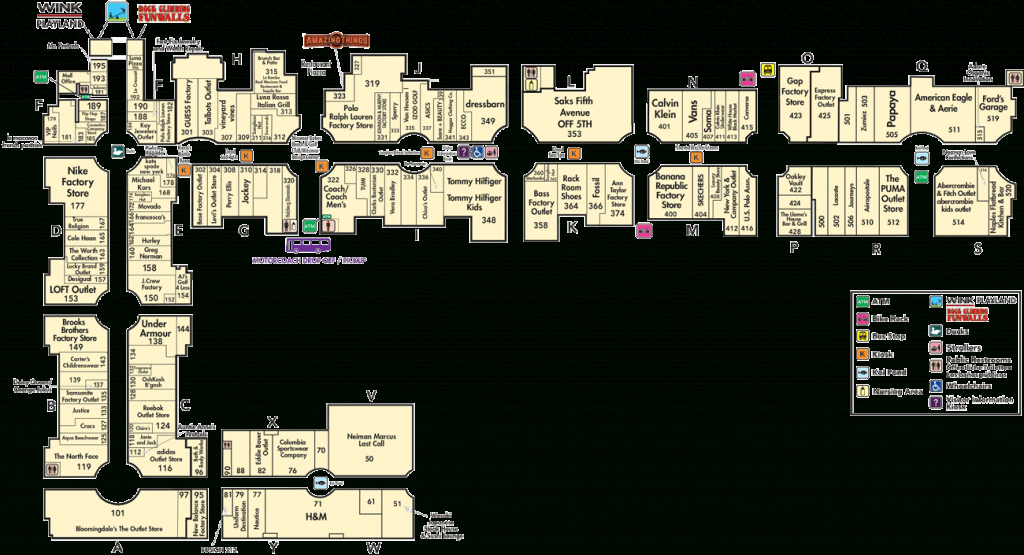 Directory A-Z   Miromar Outlets - Florida Outlet Malls Map