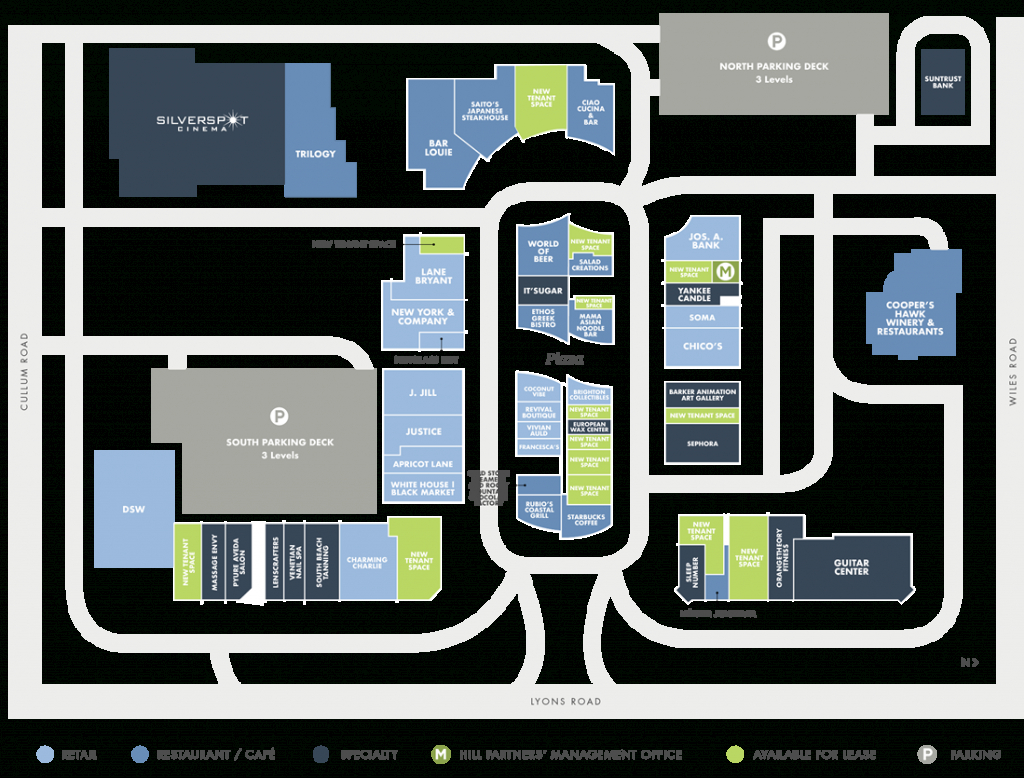Directory   Promenade At Coconut Creek - Coconut Creek Florida Map