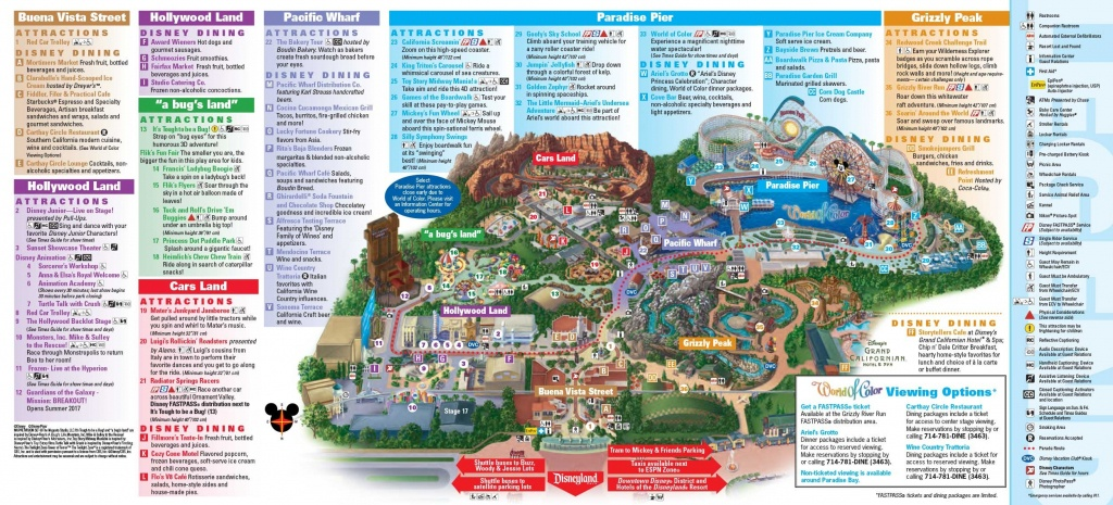 Disney California Adventure Map Map With Image California Adventure - California Adventure Map 2017 Pdf