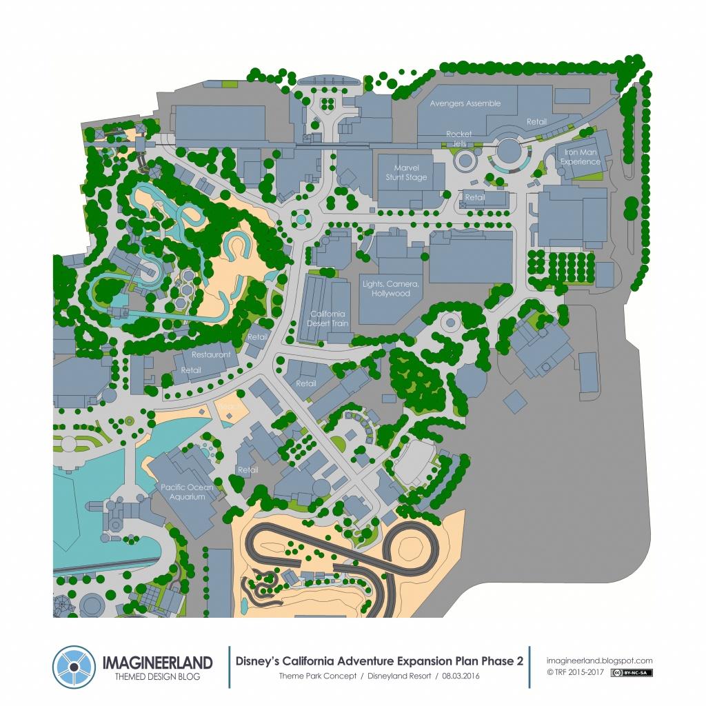 Disney California Adventure] Nouvelle Zone Marvel (2020) - California Adventure Map 2017