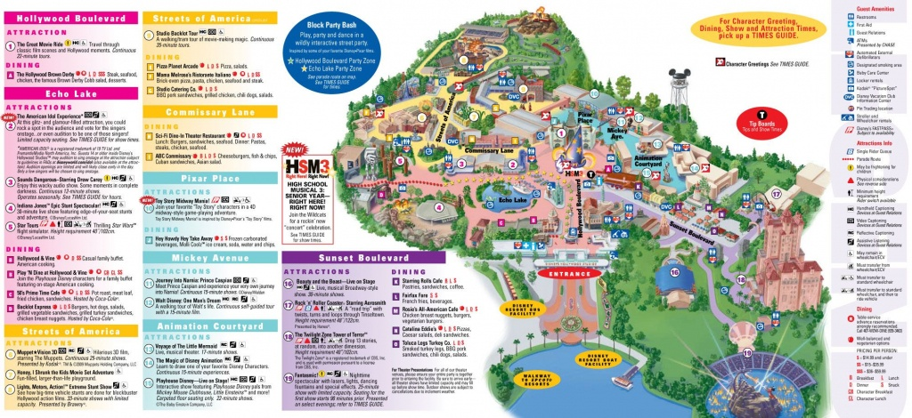 Disney Hollywood Studios Map. Clicking On The Pic Will Take You To - Toy Story Land Florida Map