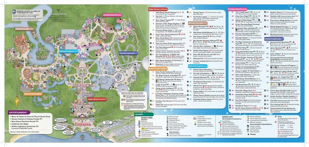Disney-Magic-Kingdom-Map In 2019   Virtual Magic Kingdom   Disney - Printable Magic Kingdom Map 2017