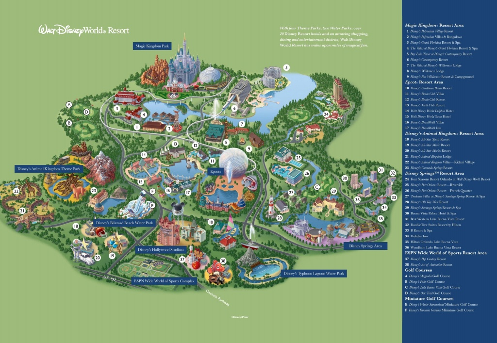 Disney Map - Walt Disney World Map (Florida - Usa) - Map Of Florida Showing Disney World