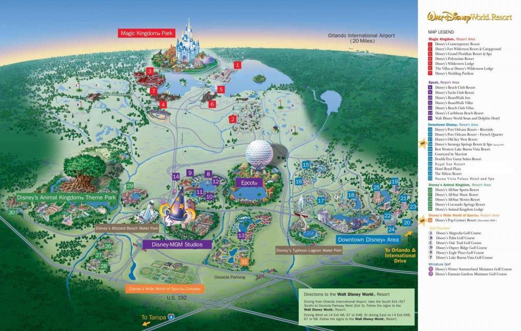 Disney Resort Carte - Carte De Walt Disney World (Floride - Usa) - Disney World Florida Map