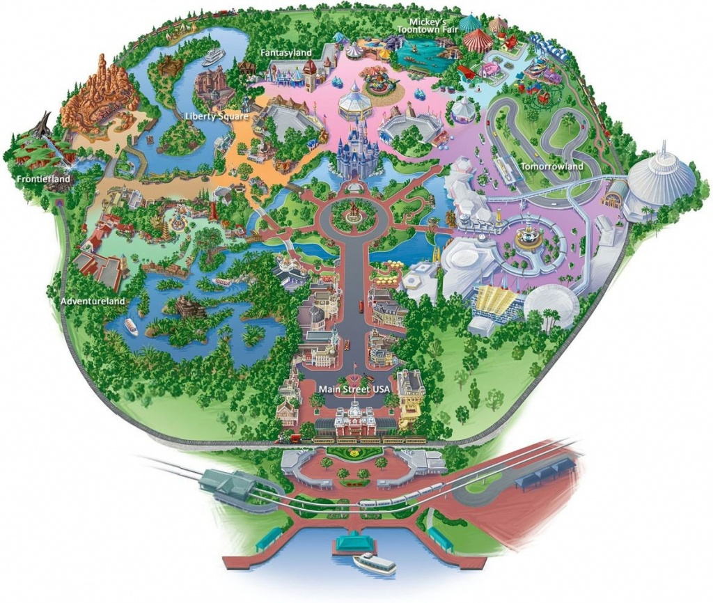 Disney World Florida Map   Sin-Ridt - Disney World Florida Theme Park Maps