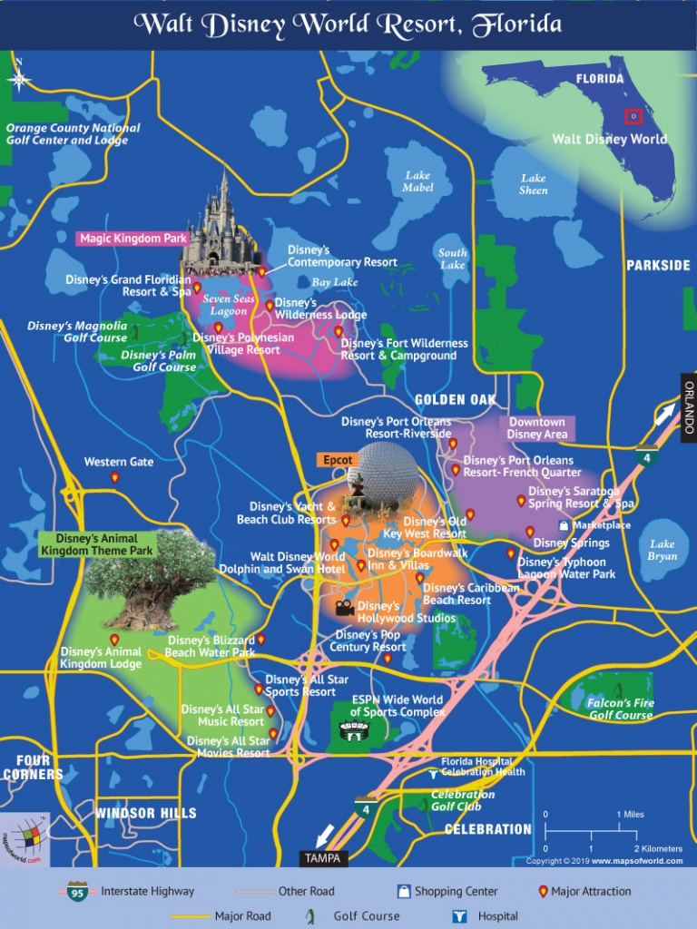 Disney World Map - Map Of Disney Florida Hotels