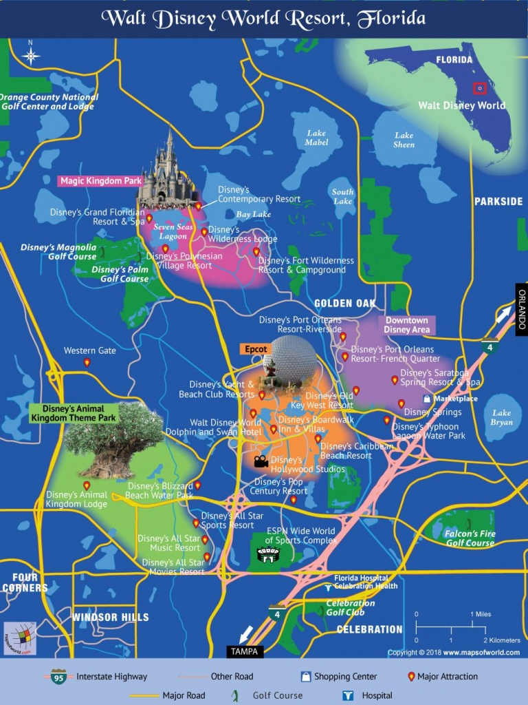 Disney World Map | Travel In 2019 | Disney World Map, Disney Map - Florida Map Hotels