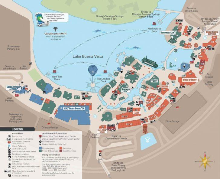 Disney Springs Map Printable
