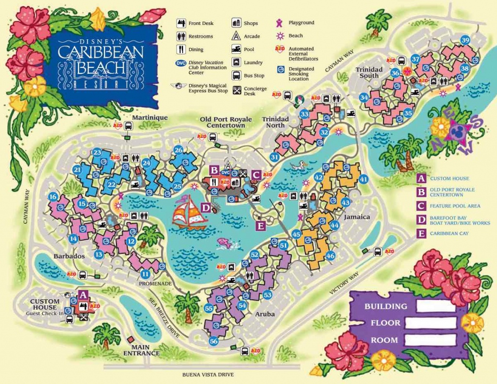 Disney World Maps For Each Resort - Disney Hotels Florida Map