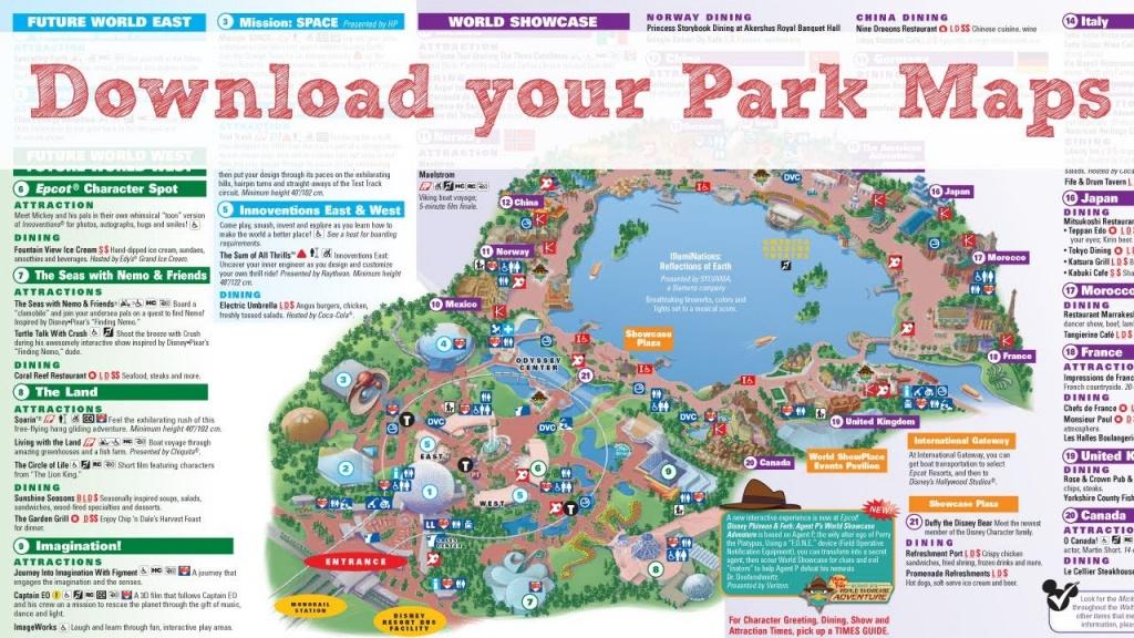 Disney World Maps - Youtube - Wdw Maps Printable