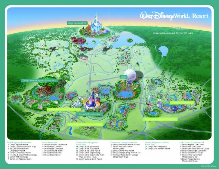 Disney Florida Maps 2018