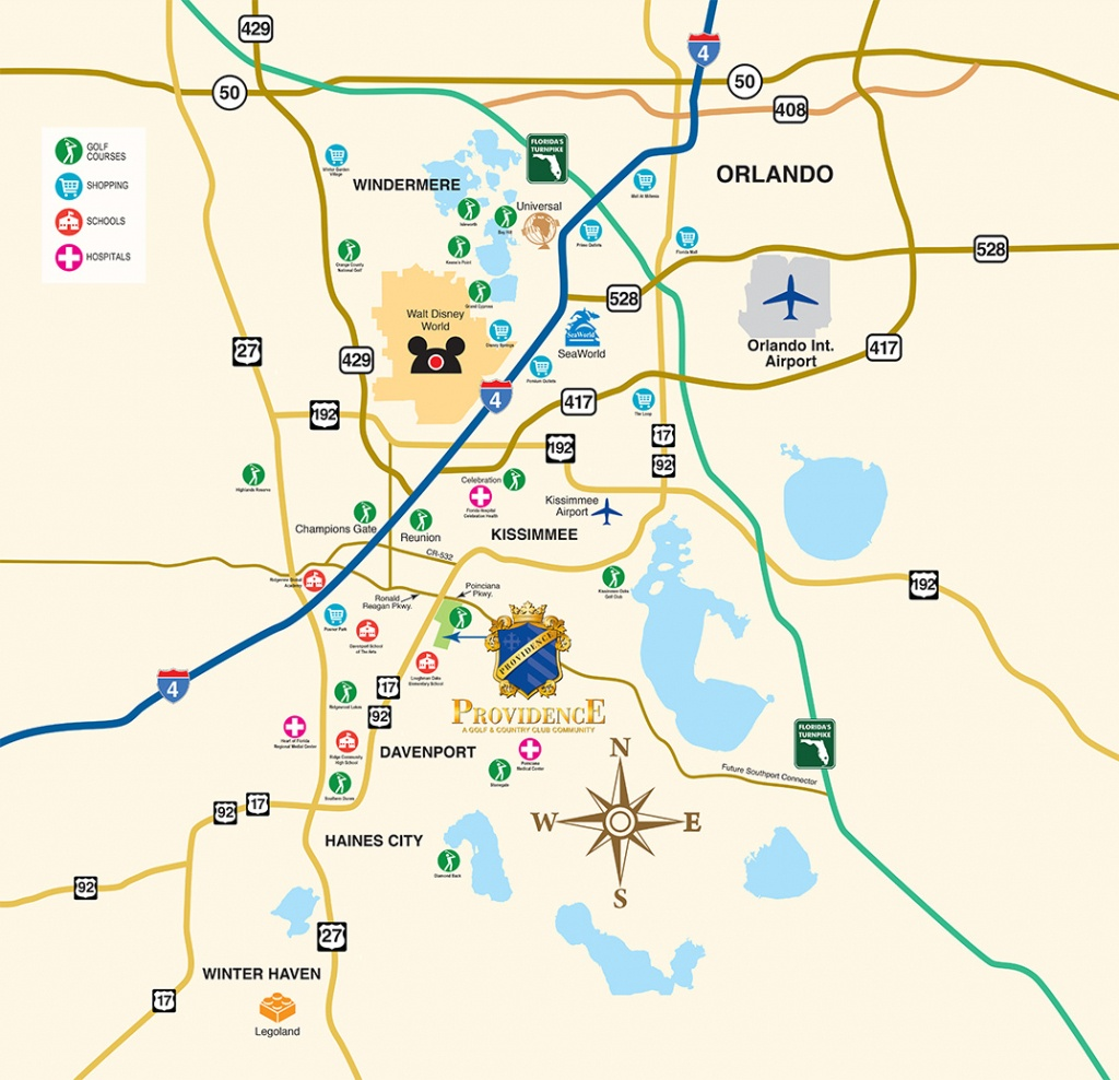 Disney World Vacation Community - New Homes Near Orlando - Davenport Florida Map