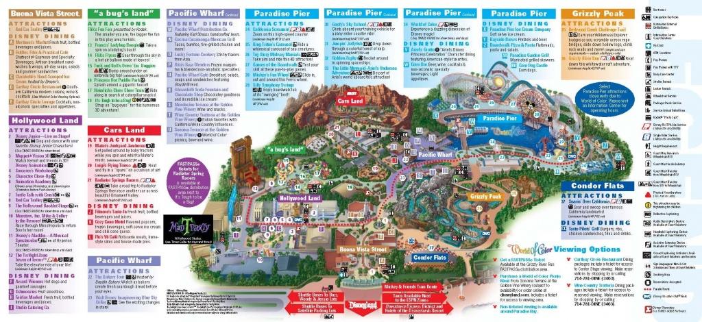 Disneyland California Adventure Park Map   Park Maps Disneyland Park - Printable Disneyland Park Map
