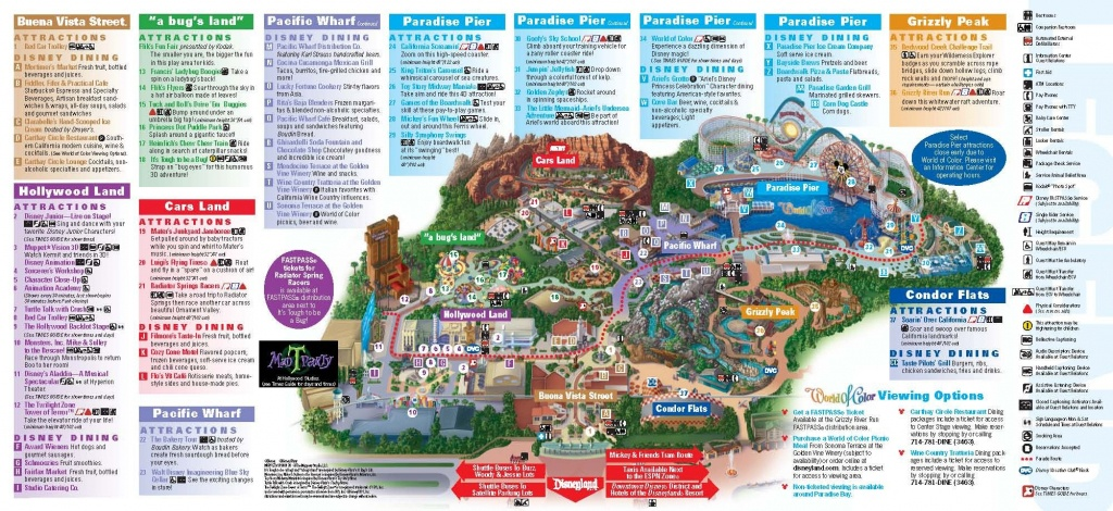 Disneyland California Adventure Park Map | Park Maps Disneyland Park - Printable Map Of Disneyland And California Adventure