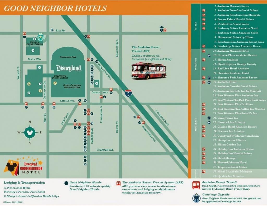 Disneyland Good Neighbor Hotel Map Disney Pinterest Disneyland - Map Of Hotels Around Disneyland California