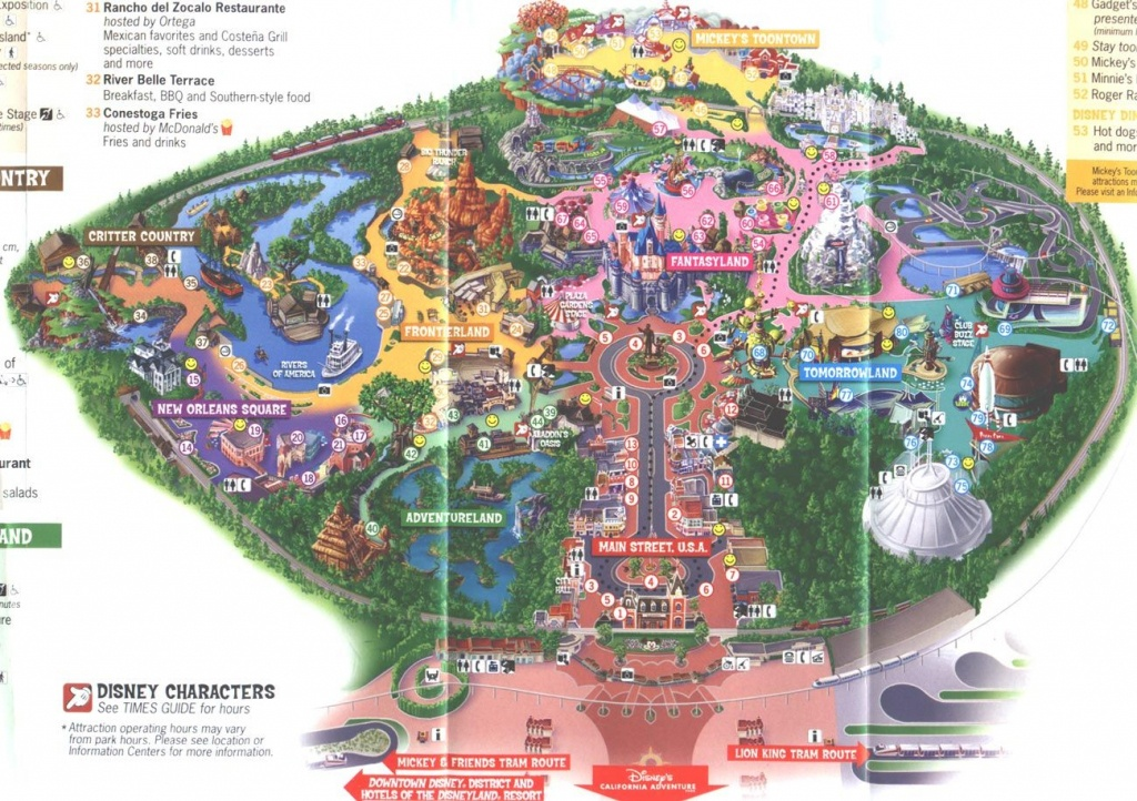Disneyland Map 2006   Places I've Been And Loved   Disneyland - Southern California Theme Parks Map