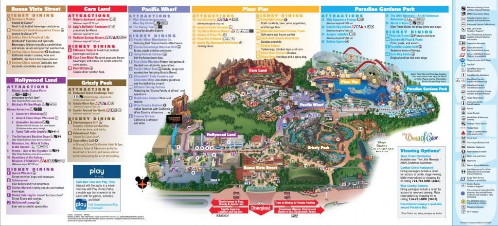 Disneyland Park Map In California, Map Of Disneyland - Printable California Adventure Map