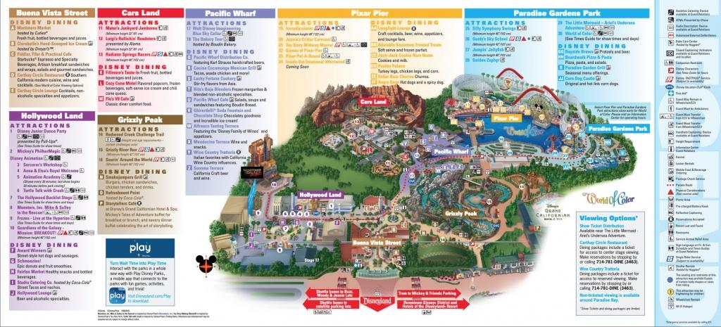 Disneyland Park Map In California, Map Of Disneyland - Southern California Theme Parks Map