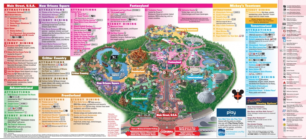 Disneyland Theme Parks, Disneyland Park California Adventure - Disney World California Map