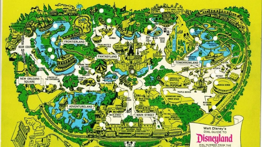 Disneyland's Evolution Through Maps - Printable California Adventure Map