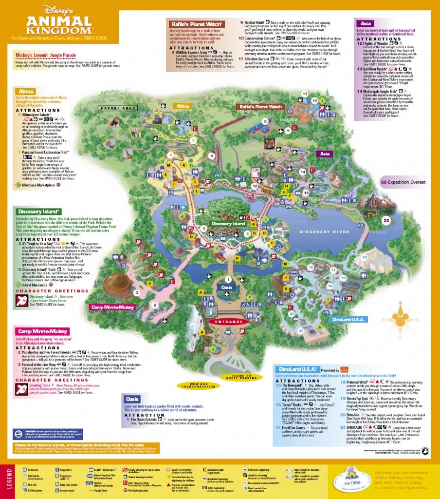 Disneys Animal Kingdom Map - Disney039S Animal Kingdom Orlando Fl - Animal Kingdom Florida Map