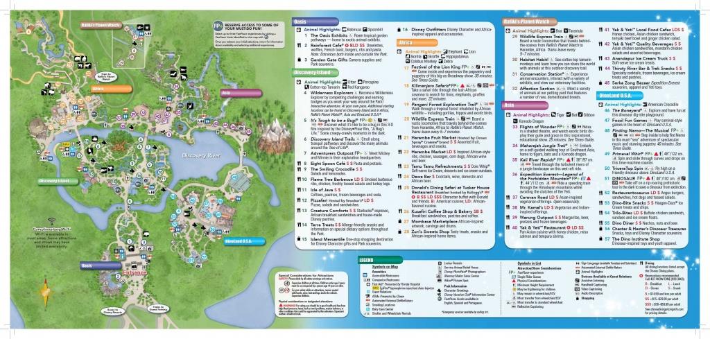 Disney's Animal Kingdom Map Theme Park Map | Disney | Disney World - Animal Kingdom Florida Map