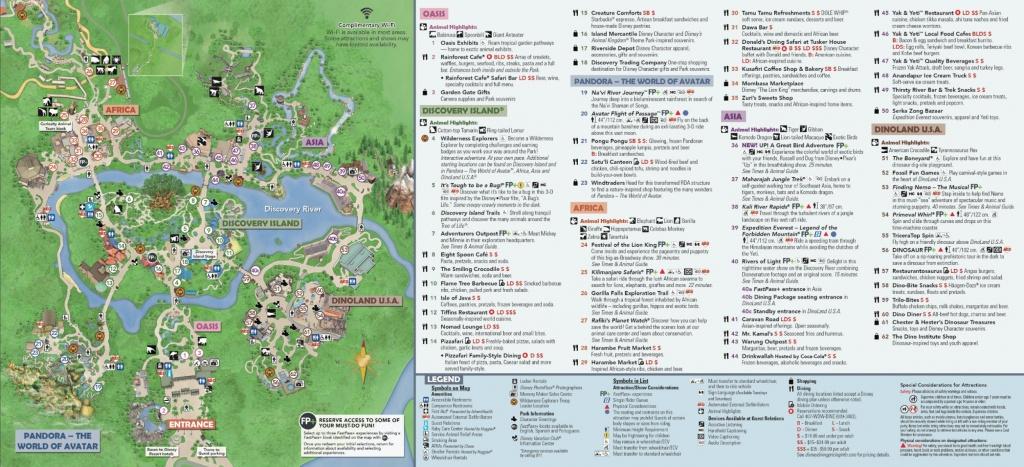 Disney's Animal Kingdom Map Theme Park Map - Disney World Florida Map 2018