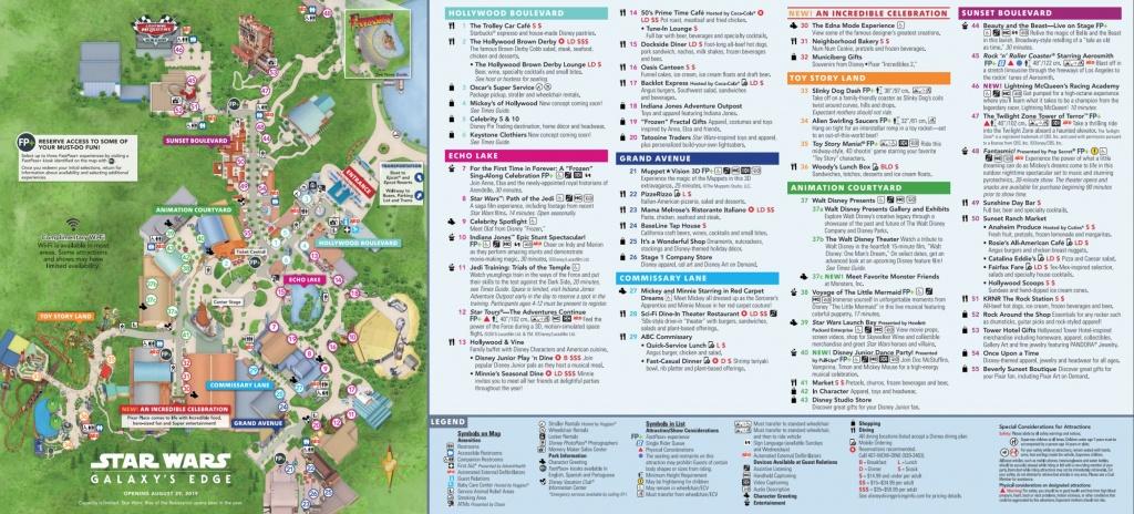Disney's Hollywood Studios Map At Walt Disney World - Toy Story Land Florida Map