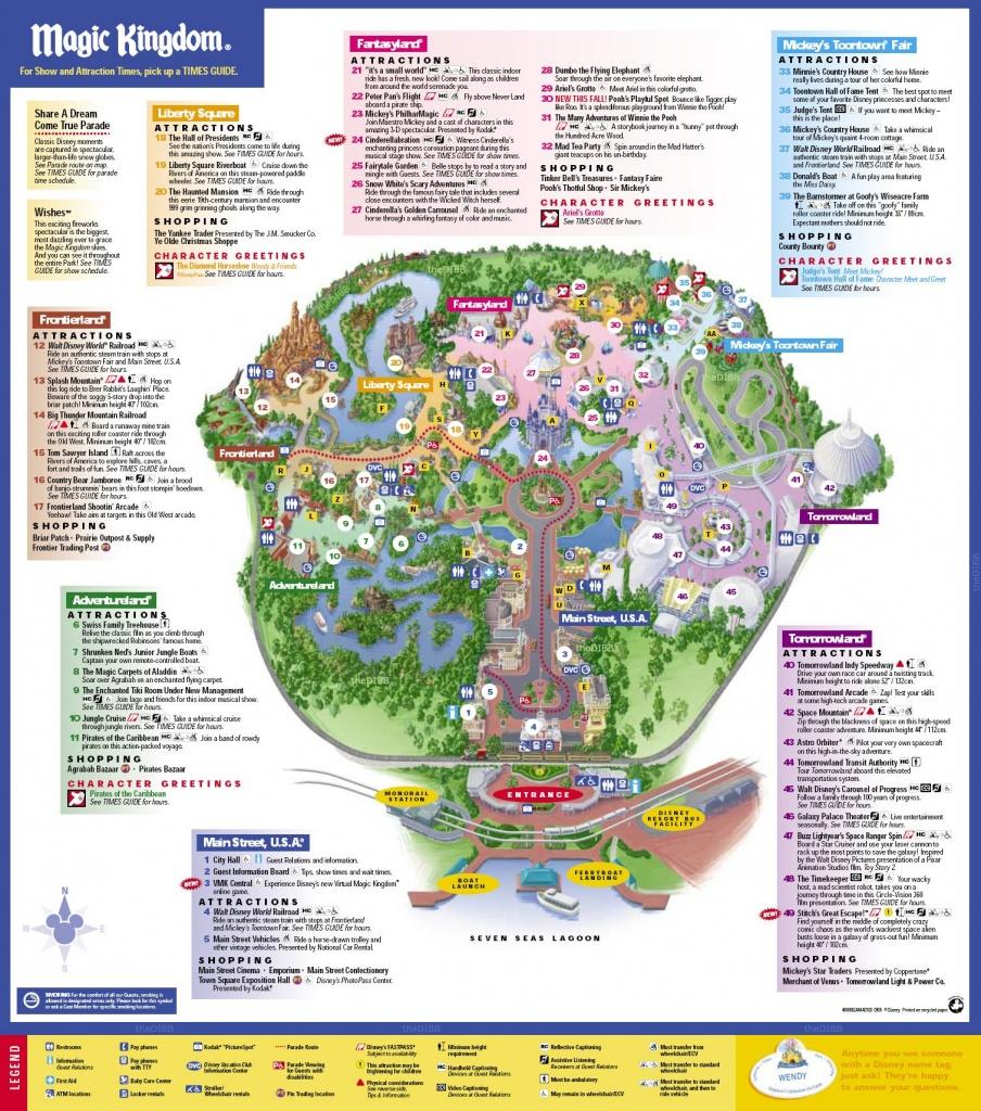 Disneys Magic Kingdom Map - Disney039S Magic Kingdom Orlando Fl Usa - Map Of Magic Kingdom Orlando Florida
