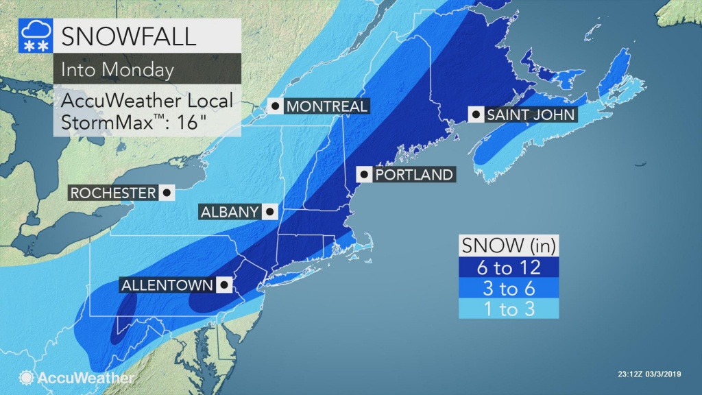 Disruptive Northeastern Us Snowstorm To Continue Into Monday - Florida Weather Map In Motion
