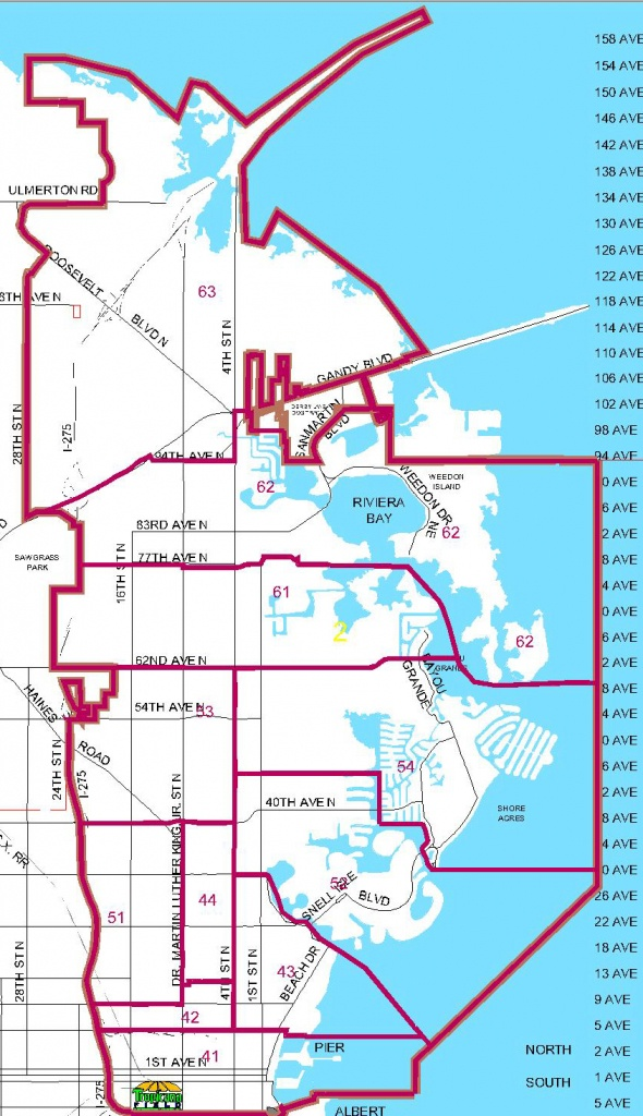 Districts - St Petersburg Florida Map