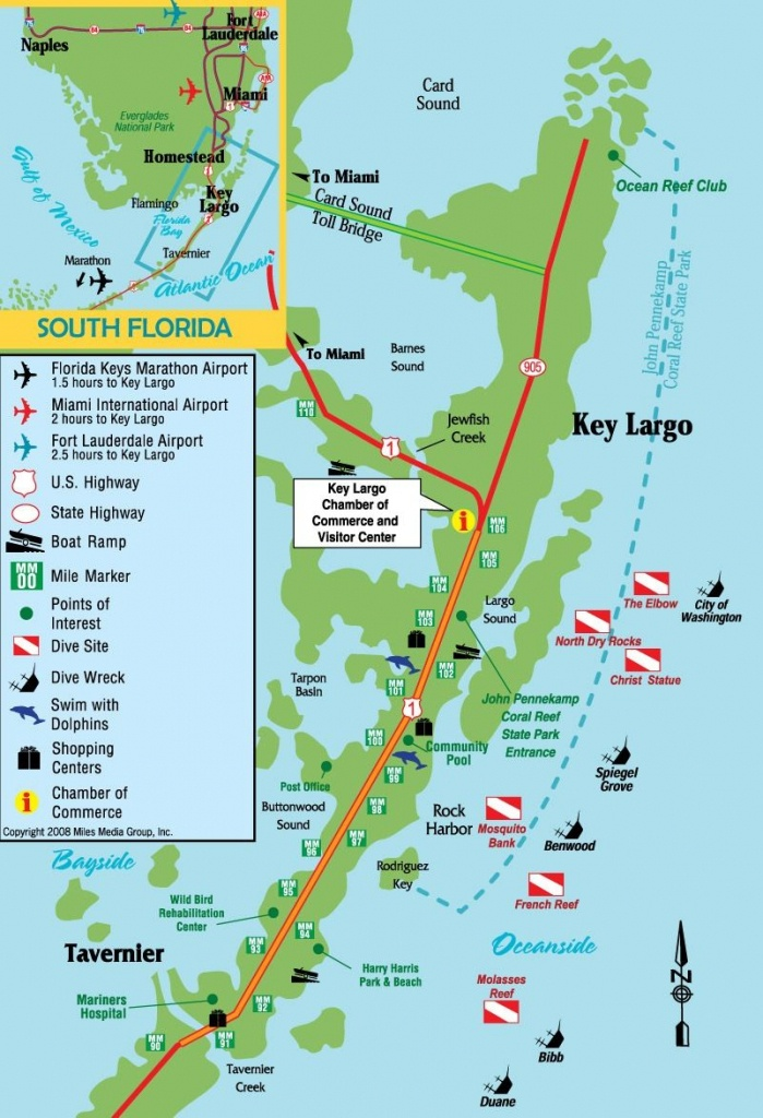 Dives Sites Key Largo, Florida | Diving Destinations | Floride - Florida Dive Sites Map