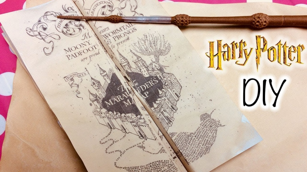 Diy Harry Potter Marauder's Map Printable And Parchment Easy Diy - Marauder's Map Replica Printable