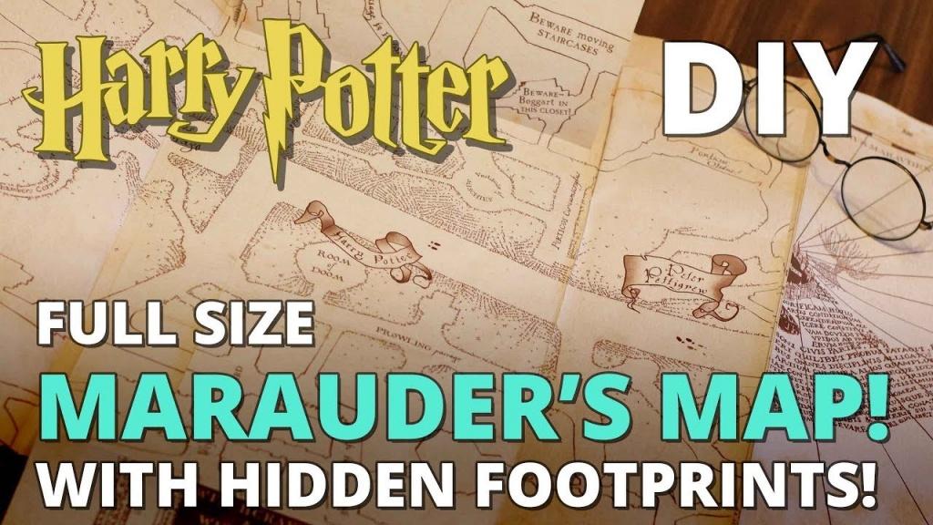 Diy Marauder's Map With Hidden Footprints! Full Size Replica - Marauder's Map Replica Printable