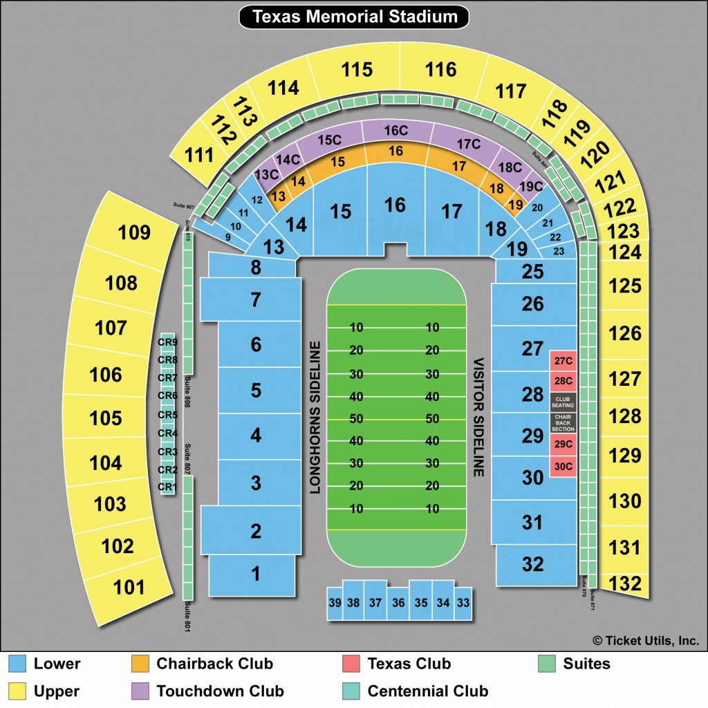 Dkr Stadium Map | Area Code Map - Texas Memorial Stadium Map