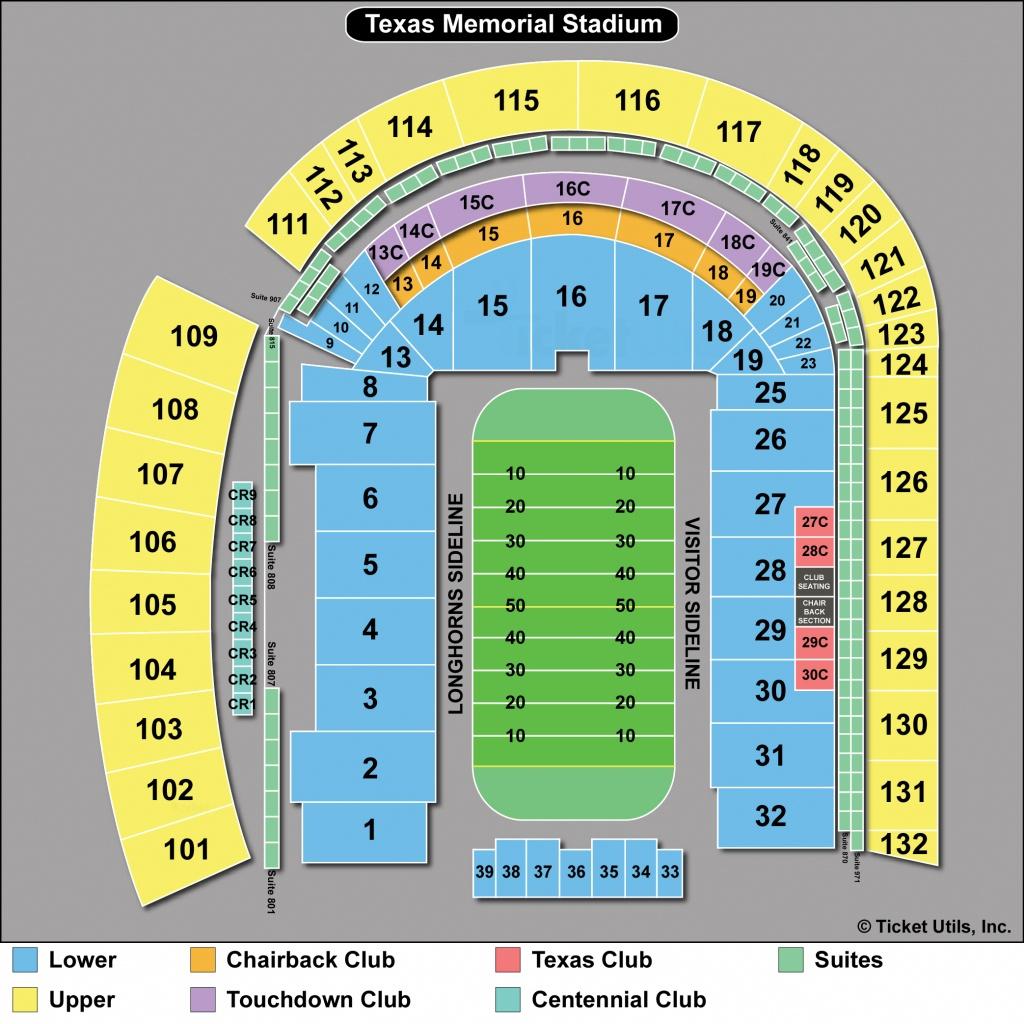 Dkr Stadium Map   Area Code Map - University Of Texas Football Stadium Map