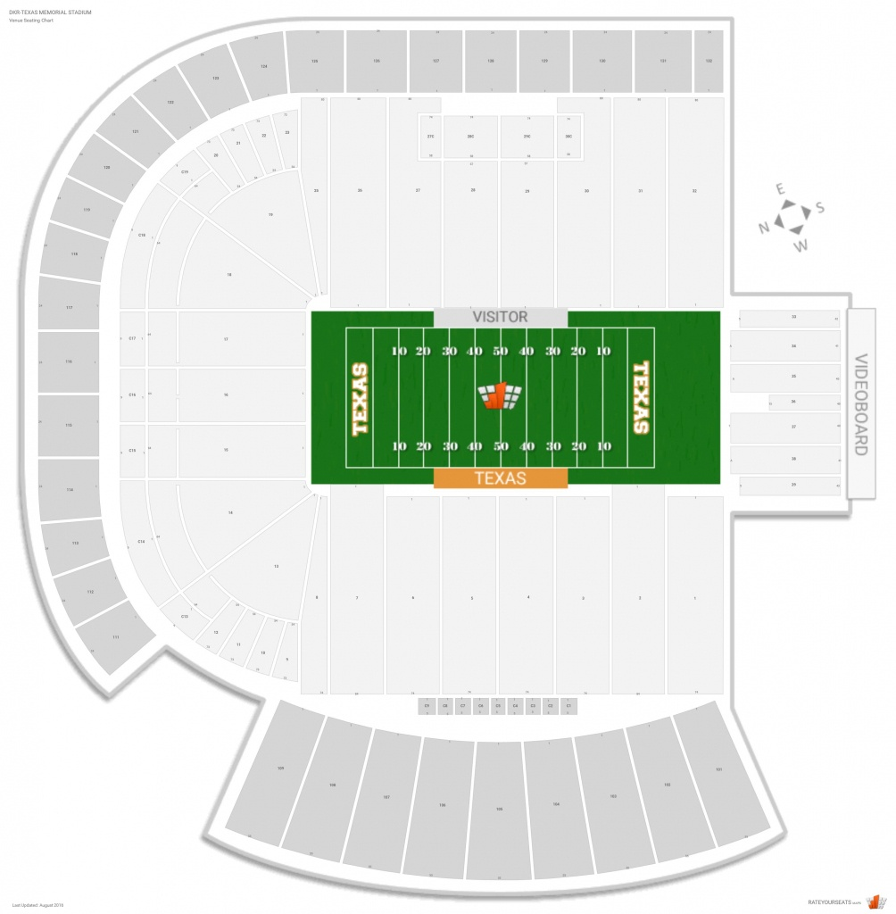 Dkr-Texas Memorial Stadium (Texas) Seating Guide - Rateyourseats - Texas Memorial Stadium Map