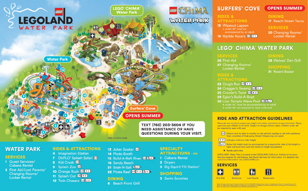 Do You Have A Map Of The Water Park? – Legoland® California Theme - Legoland Map Florida