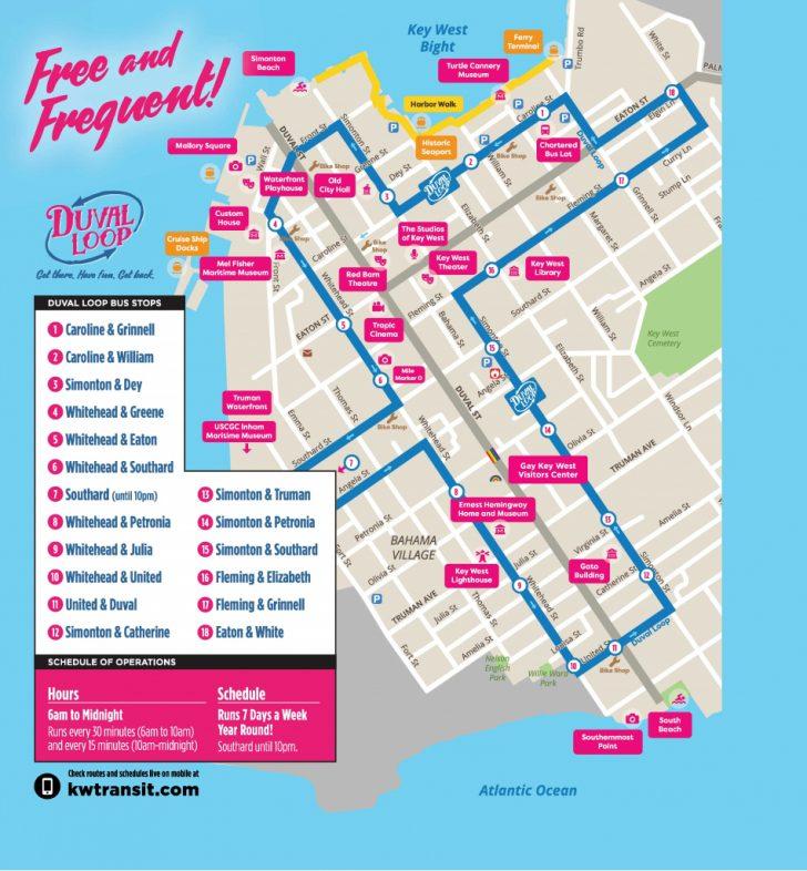 Key West Street Map Printable