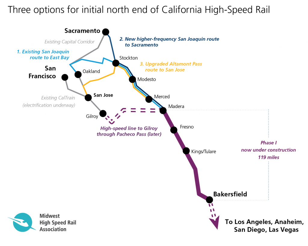 Does California Have More Options Than It Realizes For First High - High Speed Rail California Map