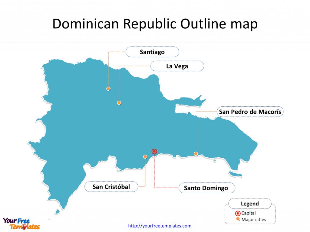 Dominican Republic Map Templates - Free Powerpoint Templates - Free Printable Map Of Dominican Republic