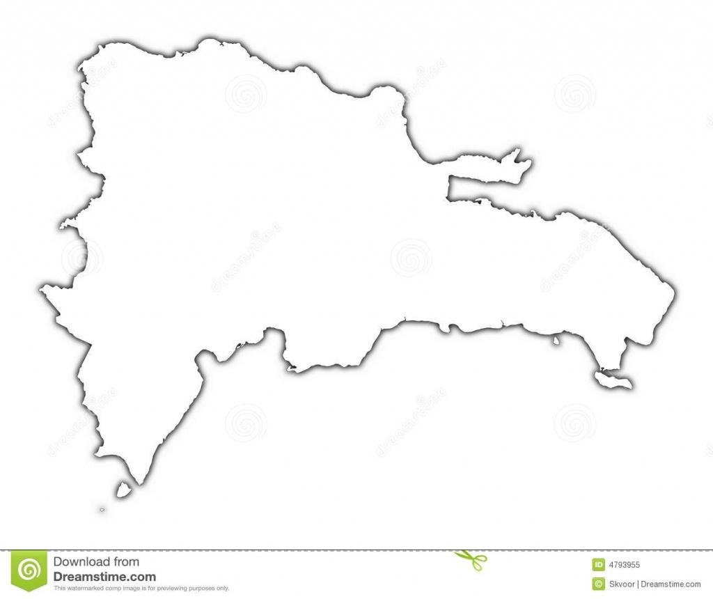 Dominican Republic Outline Map Stock Illustration - Illustration Of - Free Printable Map Of Dominican Republic