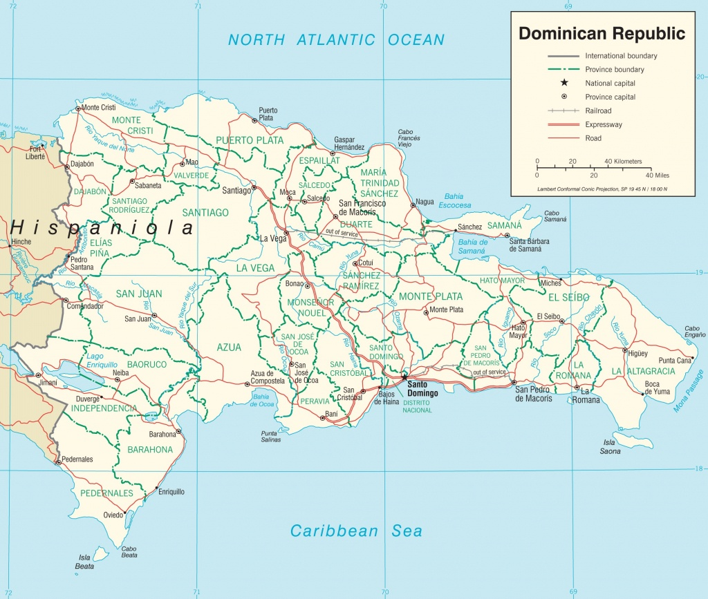 Dominican Republic Road Map - Free Printable Map Of Dominican Republic