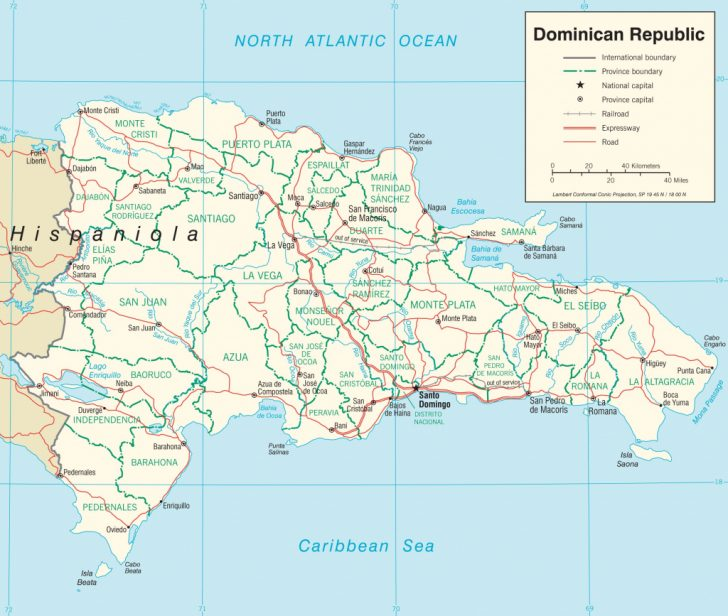 Printable Map Of Dominican Republic