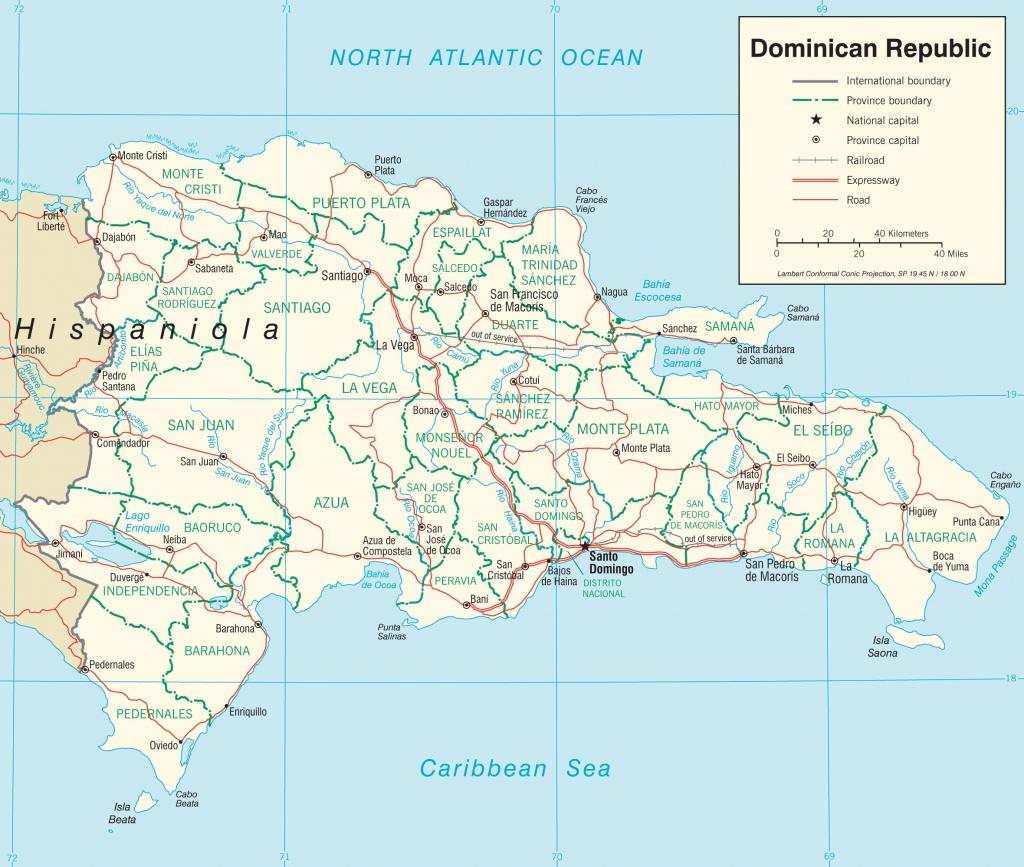 Dominican Republic Road Map - Printable Map Of Dominican Republic