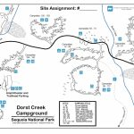 Dorst Creek Campground - Sequoia & Kings Canyon National Parks (U.s. - Sequoias In California Map