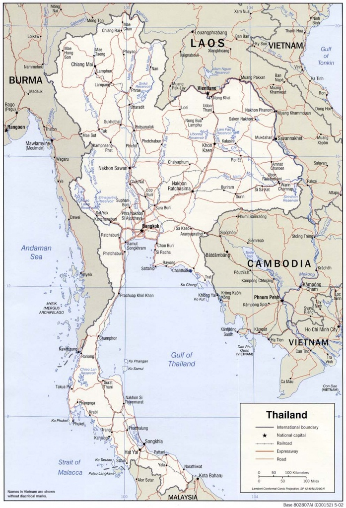 Download Free Thailand Maps - Printable Map Of Thailand