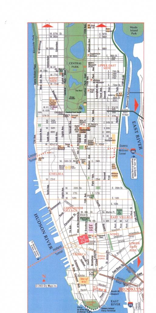 Download Map Of Manhattan | Dyslexiatips - Printable Map Manhattan Pdf