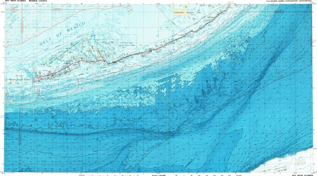 Download Topographic Map In Area Of Key West, Marathon, Stock Island - Florida Keys Topographic Map