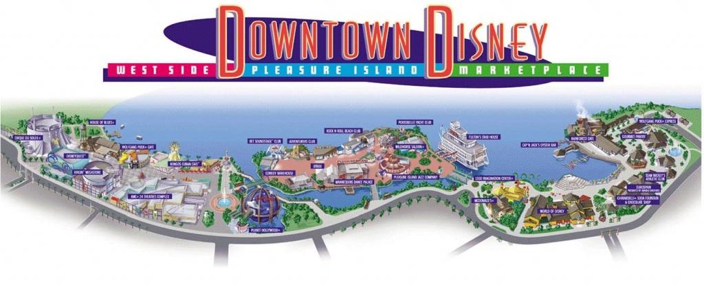 Downtown Disney Review   Disney   Disney Map, Downtown Disney - Map Of Downtown Disney Orlando Florida